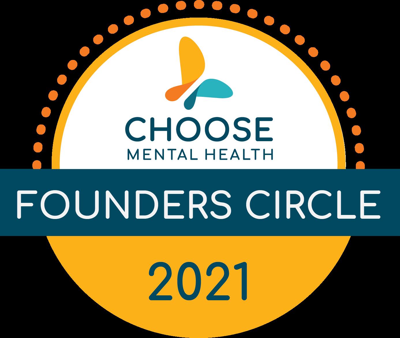 Choose Mental Health Founder's Circle Badge